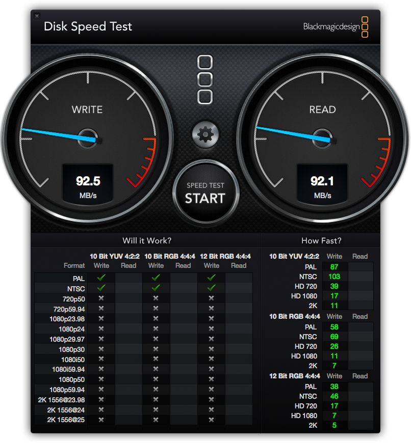 DiskSpeedTest HDD