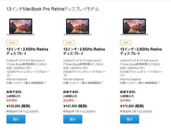 13inch MacBook Pro Retina