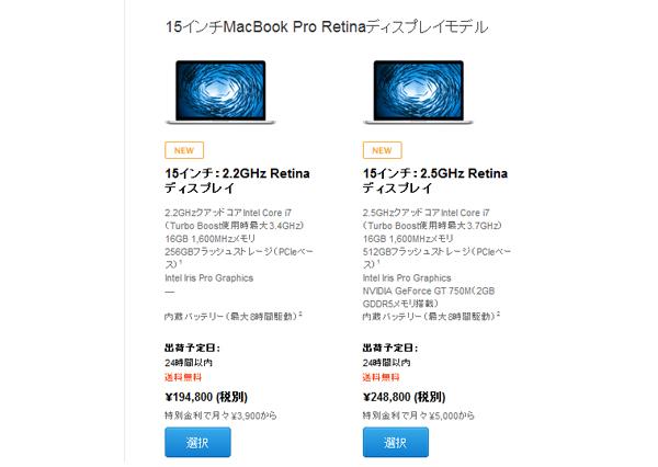 15inch MacBook Pro Retina